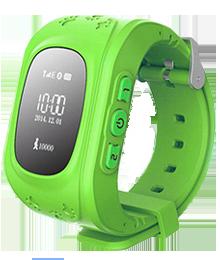 Детские GPS часы Smart Baby Watch Q50 зеленые